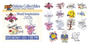 Dakota Collectibles 970466 Word Inspiration Multi-Formatted CD Embroidery Machine Designs
