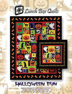 Lunch Box Quilts 93-6509 Halloween Fun Embroidery Designs CD