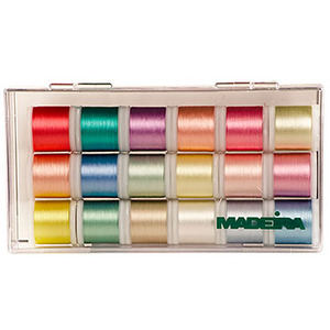 Madeira, 8040BC, 18, Spools, 220, Yard, Baby, Collection, Rayon, Embroidery, Thread, Kit