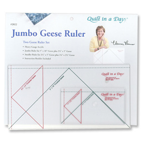 Quilt in a Day by Eleanor Burns QD2022 Jumbo Flying Geese Ruler Setnohtin