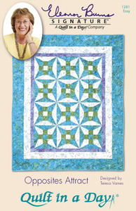 Quilt in a Day by Eleanor Burns Opposites Attract Sewing Pattern