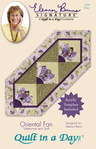 Quilt in a Day by Eleanor Burns Oriental Fan Tablerunner & Quilt Sewing Pattern