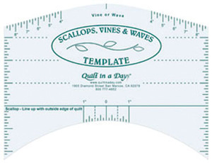 Quilt in a Day by Eleanor Burns Scallops, Vines and Waves Template