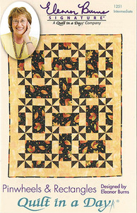 Quilt in a Day by Eleanor Burns Pinwheels and Rectangles Sewing Pattern