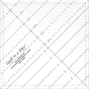 "Quilt in a Day 37408 6-1/2"" Triangle Square Up Ruler for Blocksnohtin"