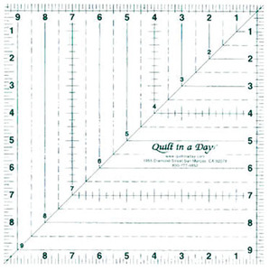 """Quilt in a Day 6858A 9-1/2"""" Square Up Ruler"""