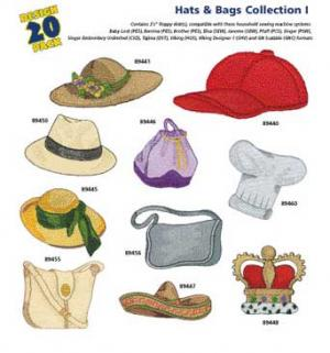 Amazing Designs 1251 Hats & Bags I Embroidery Disk