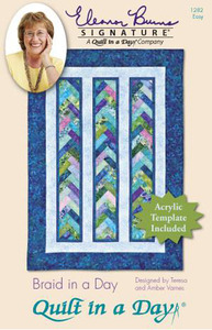 Quilt in a Day by Eleanor Burns Braid in a Day Pattern with Template