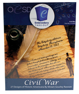 OESD 61028H Civil War Embroidery 27 Designs Multiformat CD by Miriam Gourley Rawson