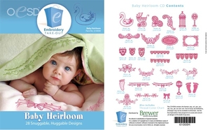 OESD 61000H Baby Heirloom Design Multiformat Embroidery Design CD