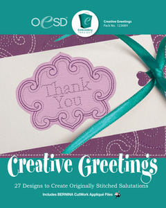 OESD 12368H Creative Greeting 27 Design Collection Embroidery Design CD