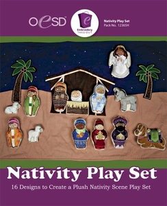 OESD 12365H Nativity Play Set Design Collection Multiformat Embroidery Design CD