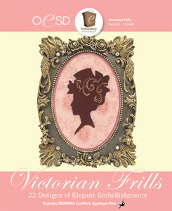 OESD 12364H Victorian Frills 22 Emb Designs Collection CD