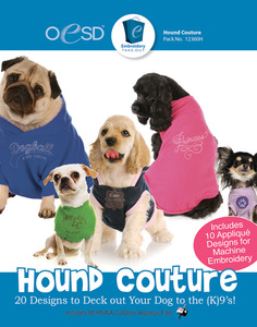 OESD 12360H Hound Couture 20 Designs Collection Multiformat Embroidery CD