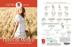 OESD 12351H Flores de Mexico Design Collection 21 Embroidery Design CD