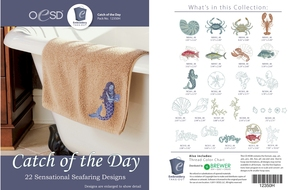 OESD 12350H Catch of the Day Design Collection Multiformat Embroidery Design CD