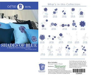 OESD 12340H Shades of Blue Design Collection Multiformat Embroidery Design CD