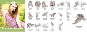 OESD 12338H Majestic Animals 20 Embroidery Designs Multi Formatted Collection CD
