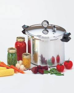 Presto 01755 16QT Quart Pressure Canner Cooker, Dial Gauge, Air Vent, Cover Lock, Recipe Book, for vegetable meat fish fruit jam jelly pickle salsa