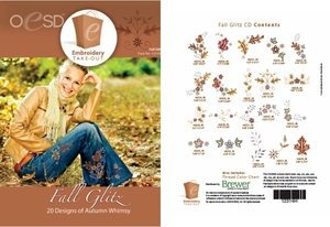 OESD 12314H Fall Glitz Design Collection Multiformat Embroidery Design CD