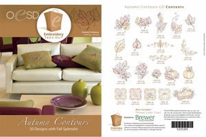 OESD 12312H Autumn Contours Multiformat Embroidery Design CD
