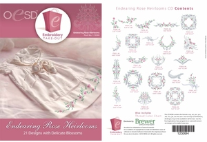 OESD 12309H Endearing Rose Heirlooms Design Multiformat Embroidery Design CD
