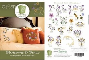 OESD 12308H Blossoms & Bows Design Multiformat Embroidery Design CD