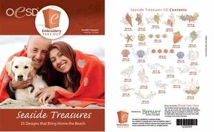 OESD 12300H Seaside Treasures Design Multiformat Embroidery Design CD