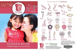 OESD 12295H Eastern Blush Multiformat Embroidery Design CD
