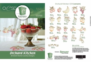 OESD 12290H Orchard Kitchen Multiformat Embroidery Design CD