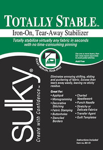"""Sulky Totally Stable 8"""" x 12yd Iron On Tear Away Stabilizer (Black)"""