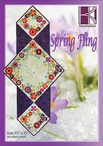 Kenny Kreations Spring Fling Quilt Multiformat Embroidery In The Hoop Designs CD