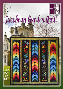 Kenny Kreations Jacobean Garden Quilt Multiformat Embroidery Design CD