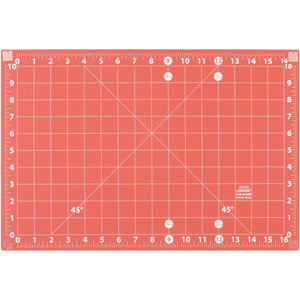 "RED/ORANGE-ADD A MAT 12""X18"", Sullivans 39234 Add A Mat 12x18"" Joinable Cutting Mat, Double Sided, Self Healing"