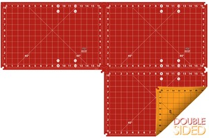 "Sullivans 39236 Add A Mat 12x24"" Joinable Cutting Mat, Double Sided, Self Healing"