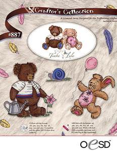 OESD #887 The World of Timba & Lula Embroidery Design Pack on USB Stick