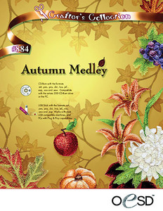 OESD Autumn Medley USB Embroidery Design Pack on USB Stick