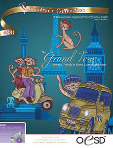 OESD The Grand Tour Multiformatted Embroidery Design Pack on USB Stick