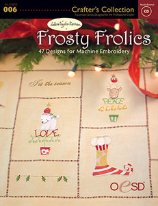 OESD Frosty Frolics by Debbie Taylor Kerman Embroidery Design Pack on USB Stick
