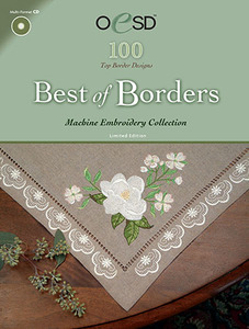 OESD Best of Borders CD Format Multiformatted Embroidery Design CD