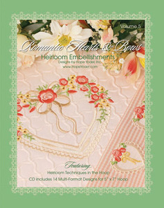 Hope Yoder HY4141 Romantic Hearts Bows Heirloom Embellishments Vol5 CD