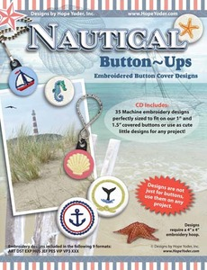 Hope Yoder HY2225 Nautical Button Ups Embroidery 35 Designs CD