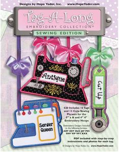 Hope, Yoder, 93-3648, Tag, A, Long, 29, Sewing, Design, CD, 16, 13, Phrase