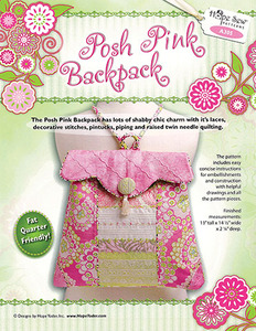 Hope Yoder A305 Posh Pink Girly Roomy Backpack Sewing Pattern