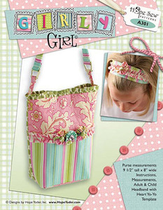 Hope Yoder A301 Girly Girl Purse Sewing Pattern, Front and Back Pockets