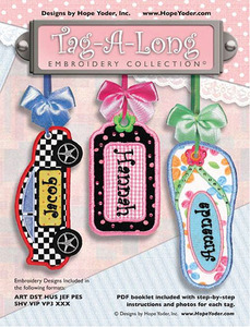 Hope Yoder 56/2607 Tag-A-Long Collection 18 Freestanding Tags, Charms