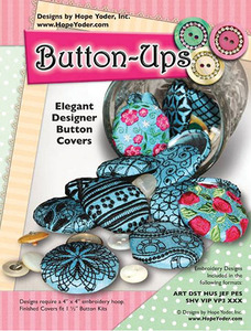 "Hope Yoder 56/2606 Elegant 1.5"" Button Ups Covers Embroidery 18 Designs CD"