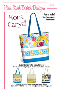 Pink Sand Beach Designs Kona Carryall Pattern