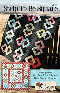 G.E. Designs Strip to be Square Quilting Pattern