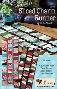 G.E. Designs Sliced Charm Runner Quilting Pattern